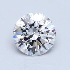 1.07-Carat Round Diamond Ideal E VVS1