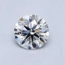 0.75-Carat Round Diamond Ideal G VS2