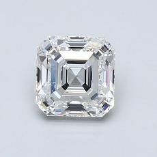 1.00-Carat Asscher Diamond Very Good E IF