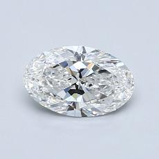 0.72 Carat Ovalado Diamond Muy buena F VS2