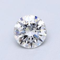 0.80-Carat Round Diamond Ideal E VVS1