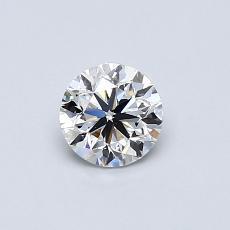 0,50-Carat Round Diamond Very Good E VVS2