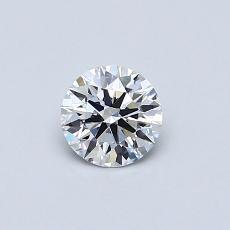 0,40 Carat Redondo Diamond Ideal D FL