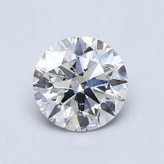 1.00 Carat 圆形 Diamond 理想 F SI2