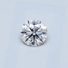 0.30 Carat 圆形 Diamond 理想 E VS2