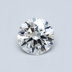 0.53 Carat 圓形 Diamond 理想 E VS1