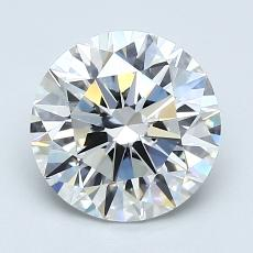 2.00-Carat Round Diamond Ideal F VS1