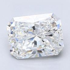 2,51-Carat Radiant Diamond Very Good F VVS2