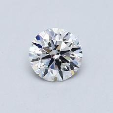 0.52 Carat 圓形 Diamond 理想 E VVS1