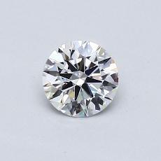 0.50 Carat 圓形 Diamond 理想 F VVS2