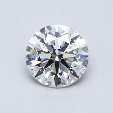 0.76 Carat 圓形 Diamond 理想 F SI1