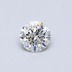 0.40-Carat Round Diamond Ideal I SI2
