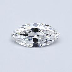 Pierre recommandée n°2: Diamant taille princesse 0,33 carat
