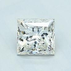 1.05-Carat Princess Diamond Good K SI2