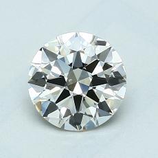 1.00-Carat Round Diamond Ideal K VVS2