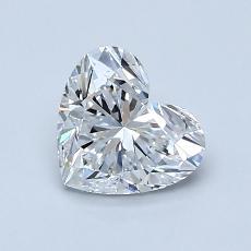 1.00-Carat Heart Diamond Very Good D VS1