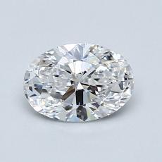 0.80-Carat Oval Diamond Very Good D VS1