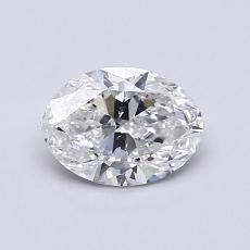 0.70 Carat 橢圓形 Diamond 非常好 E SI1