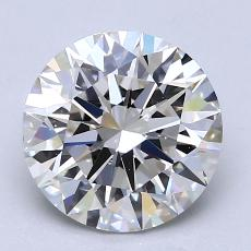 2,07-Carat Round Diamond Ideal G VVS2