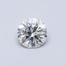 0.42-Carat Round Diamond Ideal H SI1
