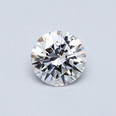 0,50-Carat Round Diamond Ideal D IF