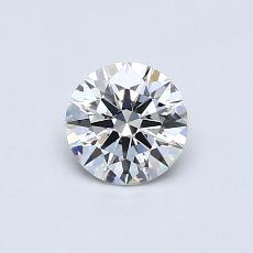 0.50 Carat 圆形 Diamond 理想 F VVS2