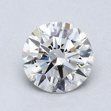 1.03-Carat Round Diamond Ideal H IF