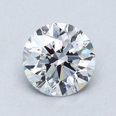 1.00-Carat Round Diamond Ideal D VS1