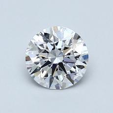 0,80 Carat Rond Diamond Idéale D VVS2