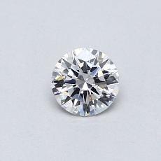 0.30 Carat 圆形 Diamond 理想 D VVS1