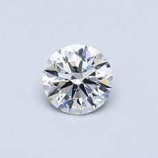 0,41-Carat Round Diamond Ideal E SI1