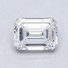 1.01-Carat Emerald Diamond Very Good E VVS2