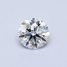 0,50-Carat Round Diamond Ideal E IF