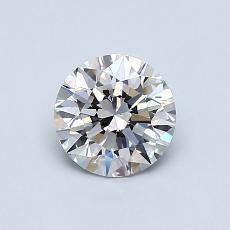 0,75-Carat Round Diamond Ideal G VS1