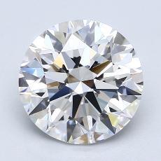 3.02-Carat Round Diamond Ideal D VVS1