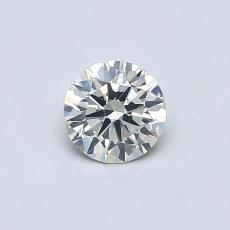 0,40-Carat Round Diamond Ideal K SI2