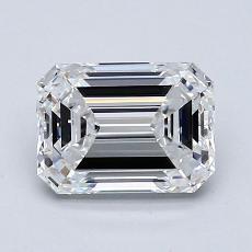 1.55-Carat Emerald Diamond Very Good E VVS2