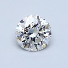 0.75-Carat Round Diamond Ideal G VVS2