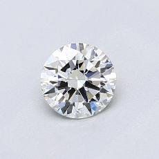 0.50-Carat Round Diamond Ideal H VS1