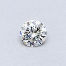 所選擇的鑽石: 0.29 克拉圓形切割鑽石