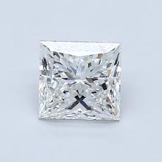 1.00-Carat Princess Diamond Very Good F VVS1