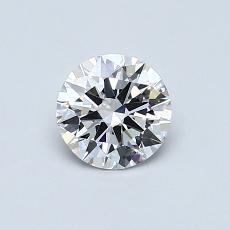 0.60 Carat 圓形 Diamond 理想 G VVS2