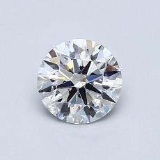 0.72-Carat Round Diamond Ideal D VS2