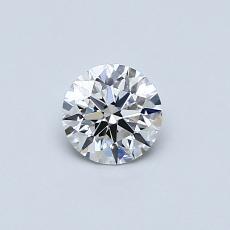 0.40 Carat 圆形 Diamond 理想 G VVS1