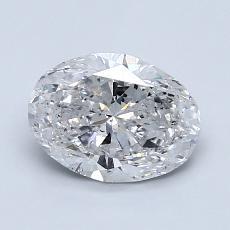 推荐宝石 3:1.29克拉椭圆形切割钻石
