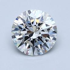1.32-Carat Round Diamond Ideal E VS1