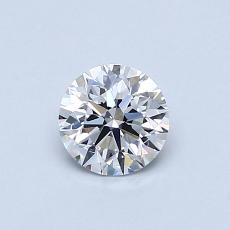 0.52-Carat Round Diamond Ideal D IF