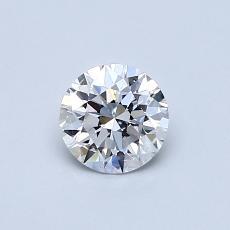 0.50 Carat 圓形 Diamond 理想 D VVS1