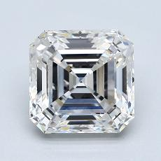 3,28-Carat Asscher Diamond Very Good D IF
