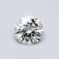 0,60-Carat Round Diamond Ideal I VS2